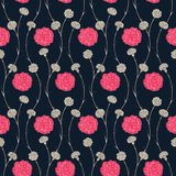 Seamless pattern of carnations Royalty Free Stock Photos