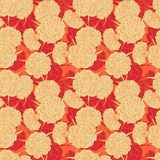 Seamless pattern of carnations Royalty Free Stock Images