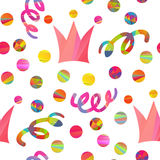 Seamless pattern with carnival crown Stock Photography