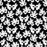 Seamless pattern with carnival mask Stock Photography