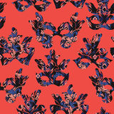 Seamless pattern with carnival mask Stock Photo