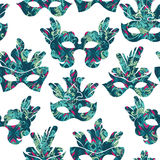 Seamless pattern with carnival mask Stock Image