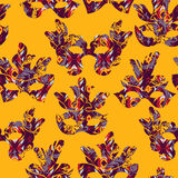 Seamless pattern with carnival mask Royalty Free Stock Photos