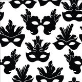 Seamless pattern with carnival mask Royalty Free Stock Images