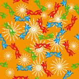 Seamless pattern with carnival masks Stock Images