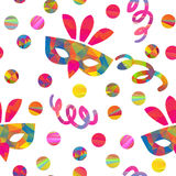 Seamless pattern with carnival masks Royalty Free Stock Images