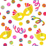 Seamless pattern with carnival masks Royalty Free Stock Photography