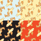 Seamless pattern carp koi Stock Photos