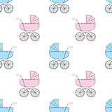 Seamless pattern with carriages Stock Photo
