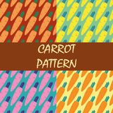 Seamless pattern with carrot Stock Photos