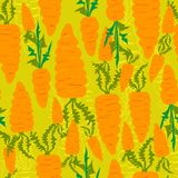 Seamless pattern of carrots Stock Image