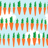 Seamless pattern with carrots Royalty Free Stock Photo