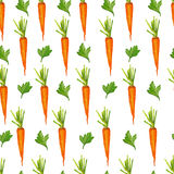 Seamless pattern with carrots and greens Royalty Free Stock Photos