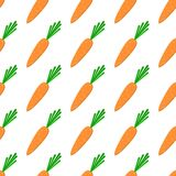 Seamless pattern with carrots on a light background. Stock Images