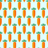 Seamless pattern with carrots Stock Image