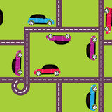 Seamless pattern of cars Stock Images