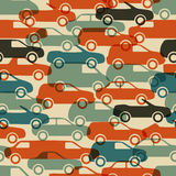 Seamless pattern with cars. Vector illustration (eps10 Royalty Free Stock Photo