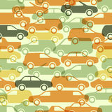 Seamless pattern with cars Royalty Free Stock Photography