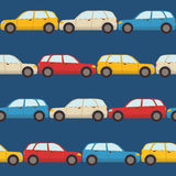 Seamless pattern with cars Royalty Free Stock Photos