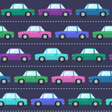 Seamless pattern with cars Stock Photography