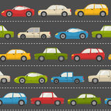 Seamless pattern with cars Stock Image