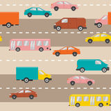 Seamless pattern with cars Stock Photos