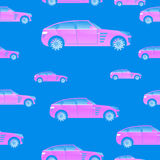 Seamless pattern with cars for illustrations and Royalty Free Stock Image