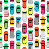 Seamless Pattern Cars on Parking. Endless Texture Royalty Free Stock Photography