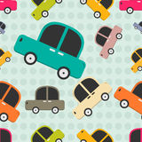 Seamless pattern with cars. Royalty Free Stock Photo