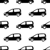 Seamless pattern with cars. Seamless pattern with black cars on white background. Vector illustration stock illustration