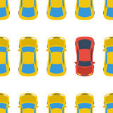 Seamless pattern with cars - top view Stock Image