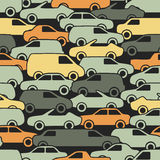 Seamless pattern with cars. Vector illustration Stock Photography