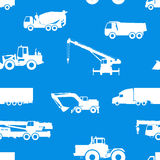 Seamless pattern of cars and vehicles. Royalty Free Stock Photography