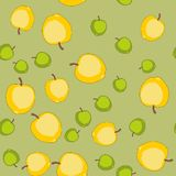 Seamless pattern with cartoon apples. Fruits repeating background. Endless print texture. Fabric design. Wallpaper 580 Stock Photos