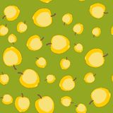Seamless pattern with cartoon apples. Fruits repeating background. Endless print texture. Wallpaper 583 Royalty Free Stock Image