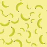 Seamless pattern with cartoon bananas. Fruits repeating background. Endless print texture. Wallpaper 587 Stock Photos
