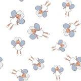 Seamless pattern with cartoon banshee Stock Photos