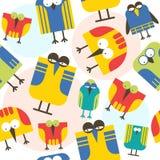 Seamless pattern cartoon bird Stock Photos