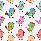 Seamless pattern cartoon birds Stock Photography