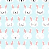 Seamless pattern with cartoon bunnies for kids. Abstract art print. background with cute animals. Vector illustration royalty free illustration