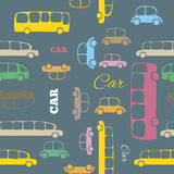 Seamless pattern with cartoon cars Royalty Free Stock Photo
