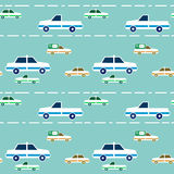Seamless pattern with cartoon cars Stock Photography