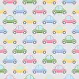 Seamless pattern of cartoon cars Royalty Free Stock Images
