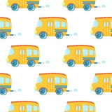 Seamless pattern of cartoon cars vector. Stock Photography