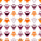 Seamless pattern with cartoon cats Stock Image