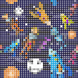 Seamless pattern cartoon children astronauts Stock Image