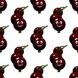 Seamless pattern of cartoon currants Stock Images