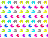 Seamless pattern with cartoon elephants Stock Images