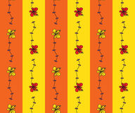 Seamless pattern with cartoon flowers Royalty Free Stock Photo