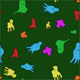 seamless pattern of cartoon ghosts vector Stock Image